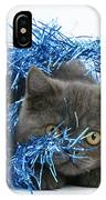 Kitten With Tinsel IPhone Case