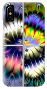 4 Panel Look Hearts Ud Fractal 64 IPhone Case
