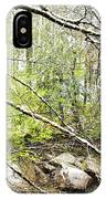 Spring Snow Along Williams River IPhone Case