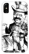 Teddy Roosevelt Cartoon IPhone Case
