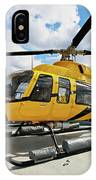 A Bell 407 Utility Helicopter IPhone Case