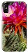 Dark Pink Cactus Flower IPhone Case