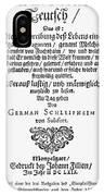 Hans Von Grimmelshausen IPhone Case
