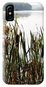 Misty Morning Big Ditch Lake IPhone Case
