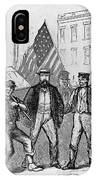 New York: Draft Riots, 1863 IPhone Case