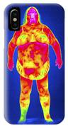 Obese Woman, Thermogram IPhone Case