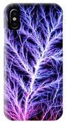 Electrical Discharge Lichtenberg Figure IPhone Case