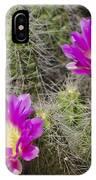 Pink Cactus Flowers IPhone Case