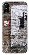 A Character On The Wall IPhone Case