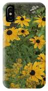 A Close View Of Black-eyed Susans IPhone Case