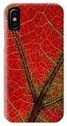 A Close View Of The Veins Of A Colorful IPhone Case