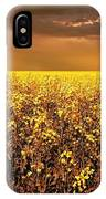 A Field Of Canola With A Rainbow IPhone Case