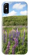 A Field Of Lupines IPhone Case