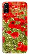 A Field Of Poppies IPhone Case