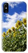 A Field Of Sunflowers . Auvergne. France IPhone Case