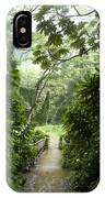A Flooded Path At Manoa Falls IPhone Case