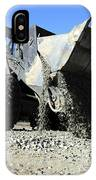 A Front End Loader Raising A Road Bed IPhone Case