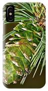 A Growing Pine Cone IPhone Case