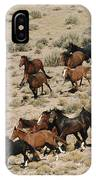 A Herd Of Wild Horses Gallops IPhone Case