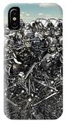 A Large Gathering Of Robots IPhone Case