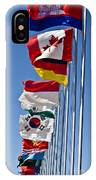 A Line Of Flags Represent The Countries IPhone Case