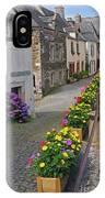 A Line Of Flowers In A French Village IPhone Case