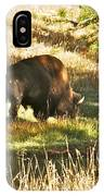 A Lone Bison In Yellowstone 9467 IPhone Case