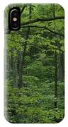 A Lush Green Eastern Woodland View.  An IPhone Case