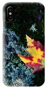 A Maple Leaf Lies On A Bed Of Moss IPhone Case