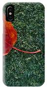 A Maple Leaf Lies On Emerald Moss IPhone Case