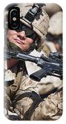 A Marine Shows His Cleared Weapon IPhone Case