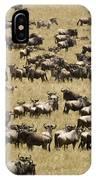 A Migrating Herd Of Wildebeests IPhone Case
