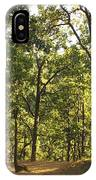 A Path Through A Sparse Forest And Trees IPhone Case