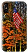A Patriotic Autumn IPhone Case