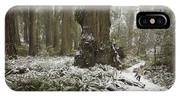 A Rare Snow Dusts The Trail Through Del IPhone Case