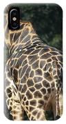 A Rear View Of A Rothschild Giraffe IPhone Case