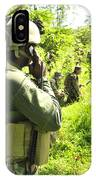 A Riverine Soldier Radios In Mock IPhone Case
