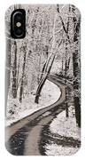A Road Running Through Snow-covered IPhone Case