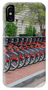 A Row Of Red Bikes IPhone Case