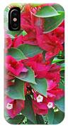 A Section Of Pink Bougainvillea Flowers IPhone Case
