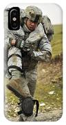 A Soldier Transports A Fellow Wounded IPhone Case