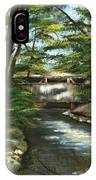 A Summer Walk Along The Creek  IPhone Case
