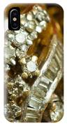 A White Gold Bracelet Among Other Yellow Gold Jewellery IPhone Case