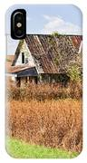 Abandoned Farmhouse In Field 4 IPhone Case