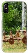 Abandoned Hay Rake 2 IPhone Case