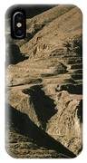 Abandoned Terraced Fields On Arid Hills IPhone Case