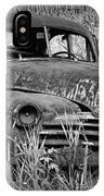 Abandoned Vintage Car Along The Roadside IPhone Case