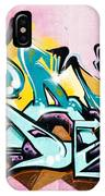 Absrtact  Graffiti On The  Textured  Wall IPhone Case