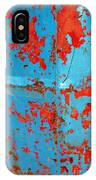 Abstrac Texture Of The Paint Peeling Iron Drum IPhone Case