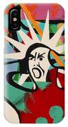 Abstract Artwork Of A Angry Man Holding His Head IPhone Case